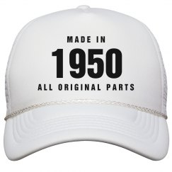 Made In 1950 Birthday Snapback