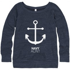 Navy Aunt Anchor Strong