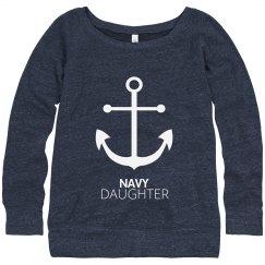 Navy Daughter Anchor Strong