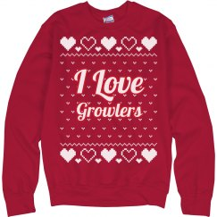 I Love Growlers Ugly Sweater