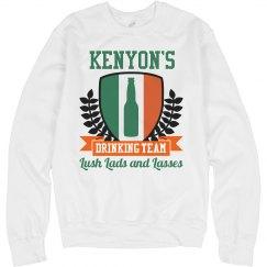 Kenyon's Irish Drinking Team