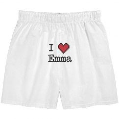 I Heart Emma Boxers