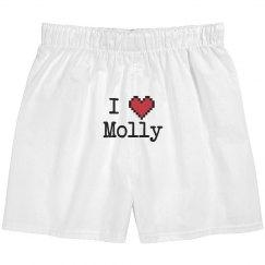 I Heart Molly Boxers