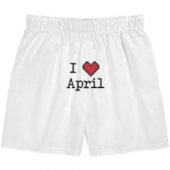I Heart April Boxers