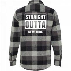 Straight Outta NEW YORK Flannel