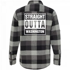 Straight Outta WASHINGTON Flannel