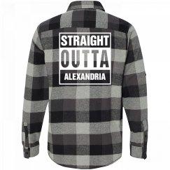 Straight Outta ALEXANDRIA Flannel