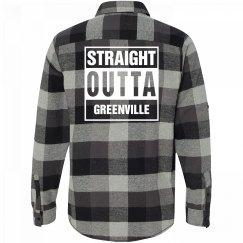 Straight Outta GREENVILLE Flannel