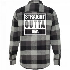 Straight Outta LIMA Flannel