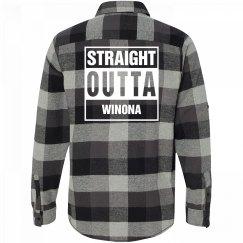 Straight Outta WINONA Flannel