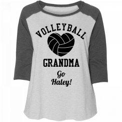 Volleyball Grandma Go Haley!