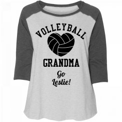 Volleyball Grandma Go Leslie!