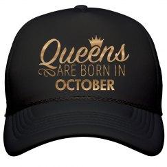 Gold Metallic Queens Born In October