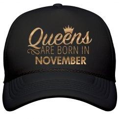 Gold Metallic Queens Born In November