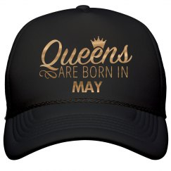 Gold Metallic Queens Born In May