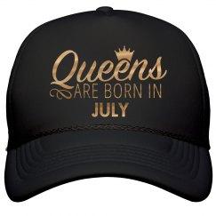 Gold Metallic Queens Born In July