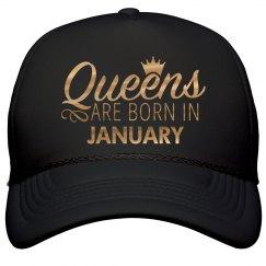 Gold Metallic Queens Born In January