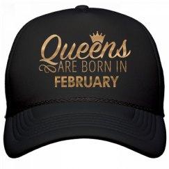 Gold Metallic Queens Born In February