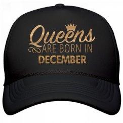 Gold Metallic Queens Born In December