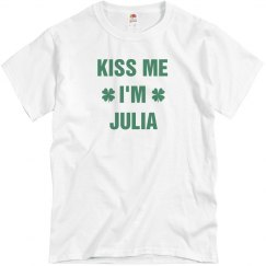 St. Pat's Kiss Me I'm Julia
