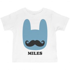 Funny Easter Bunny Mustache Miles