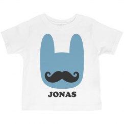 Funny Easter Bunny Mustache Jonas