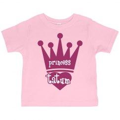 Princess Tatum Girl Toddler