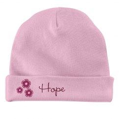 Baby Girl Hope Flower Hat