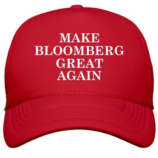 Make Bloomberg Great Again Funny Hat