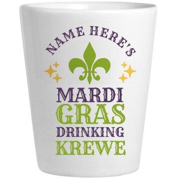 Mardi Gras Drinking Krewe Shotglass