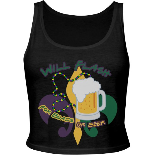 Mardi Gras Flash Top