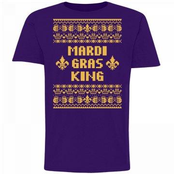 Mardi Gras King Ugly Sweater Tee