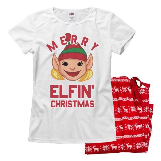 Merry Elfin' Xmas Pajamas