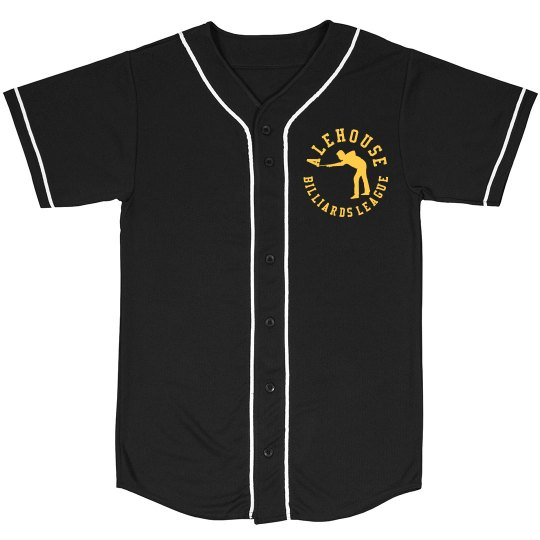 Mesh Baseball Jersey (Black with Back Logo)
