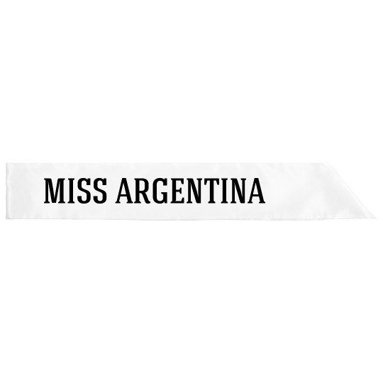 Miss Argentina Costume
