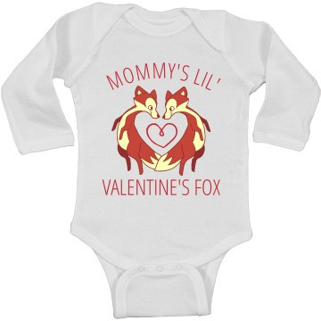Mommy's Valentine's Day Fox Onesie