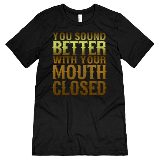 Mouth Closed Unisex Jersey Tee