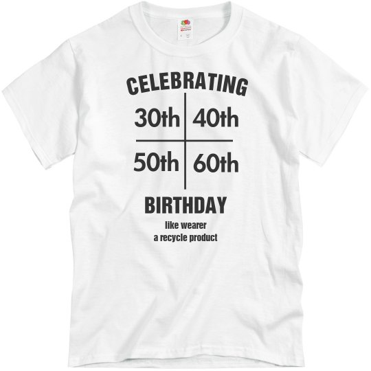 Multi birthday shirt