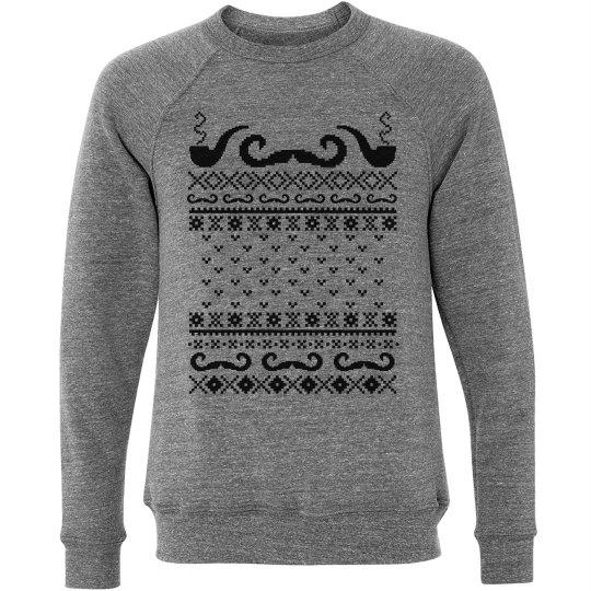 Mustache Sweater