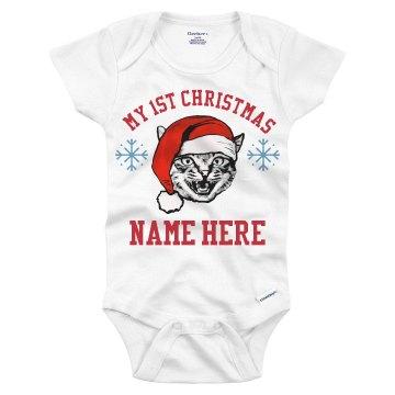 My 1st Custom Christmas Onesie