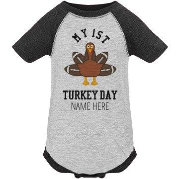 My First Custom Turkey Day Onesie