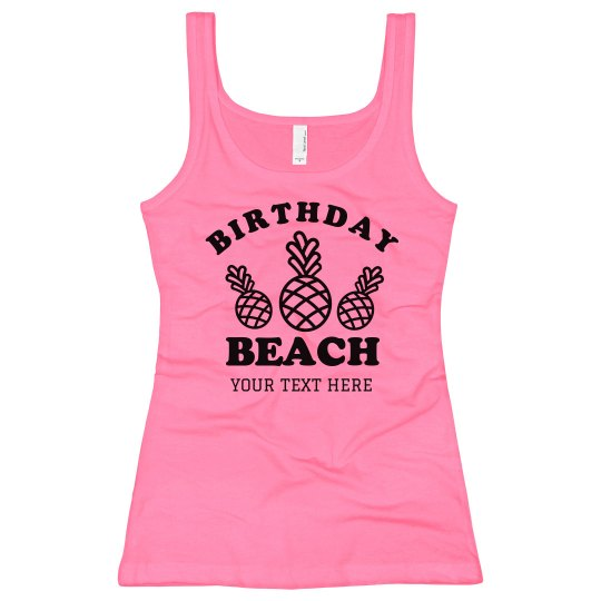 Neon Birthday Beach