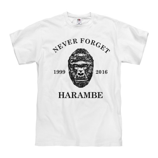 Never Forget Harambe 1999-2016