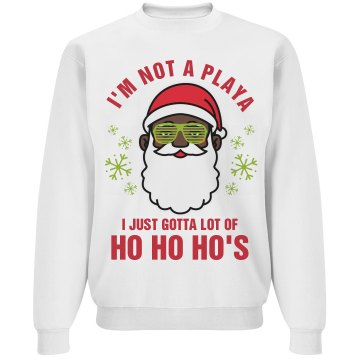 Not A Player Black Santa Sweater