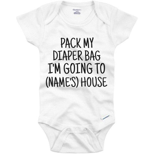 Pack My Diaper Bag Custom Name