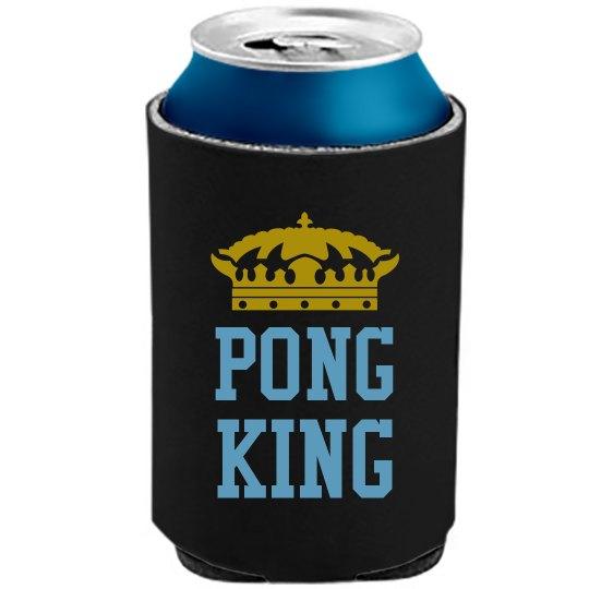 Pong King Koozie