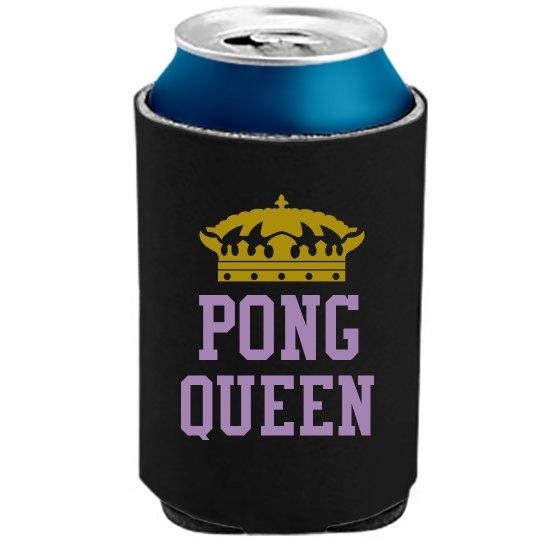 Pong Queen Koozie