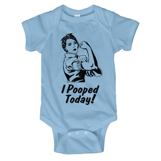 Pooped Today Onesie