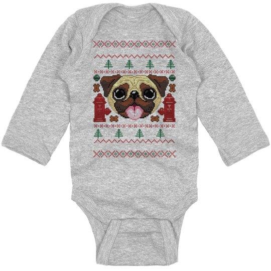 Pugly Christmas Bodysuit