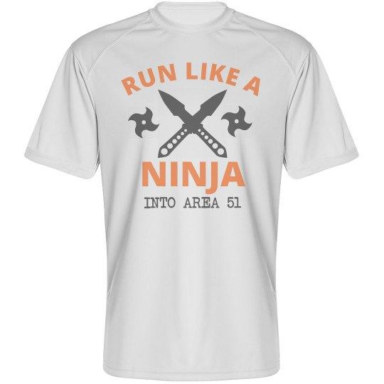 Run Like A Ninja Area 51 Tee